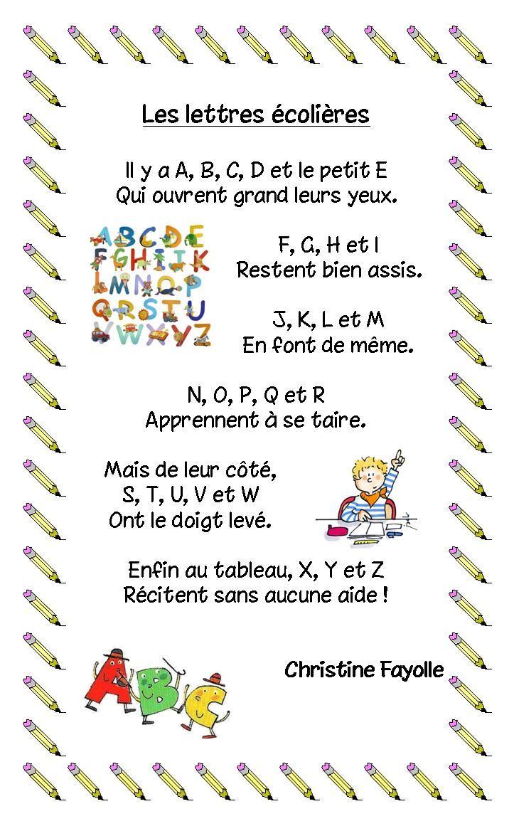 Poeme Avec Les Lettres De L'alphabet : poeme, lettres, l'alphabet, Écrire, Manière, Christine, Fayolle:, Http://www.ac-grenoble.fr/ecole/poisat.jean.mermoz/…, Comptine, Doigts,, Maternelle,, Éducation, Musicale