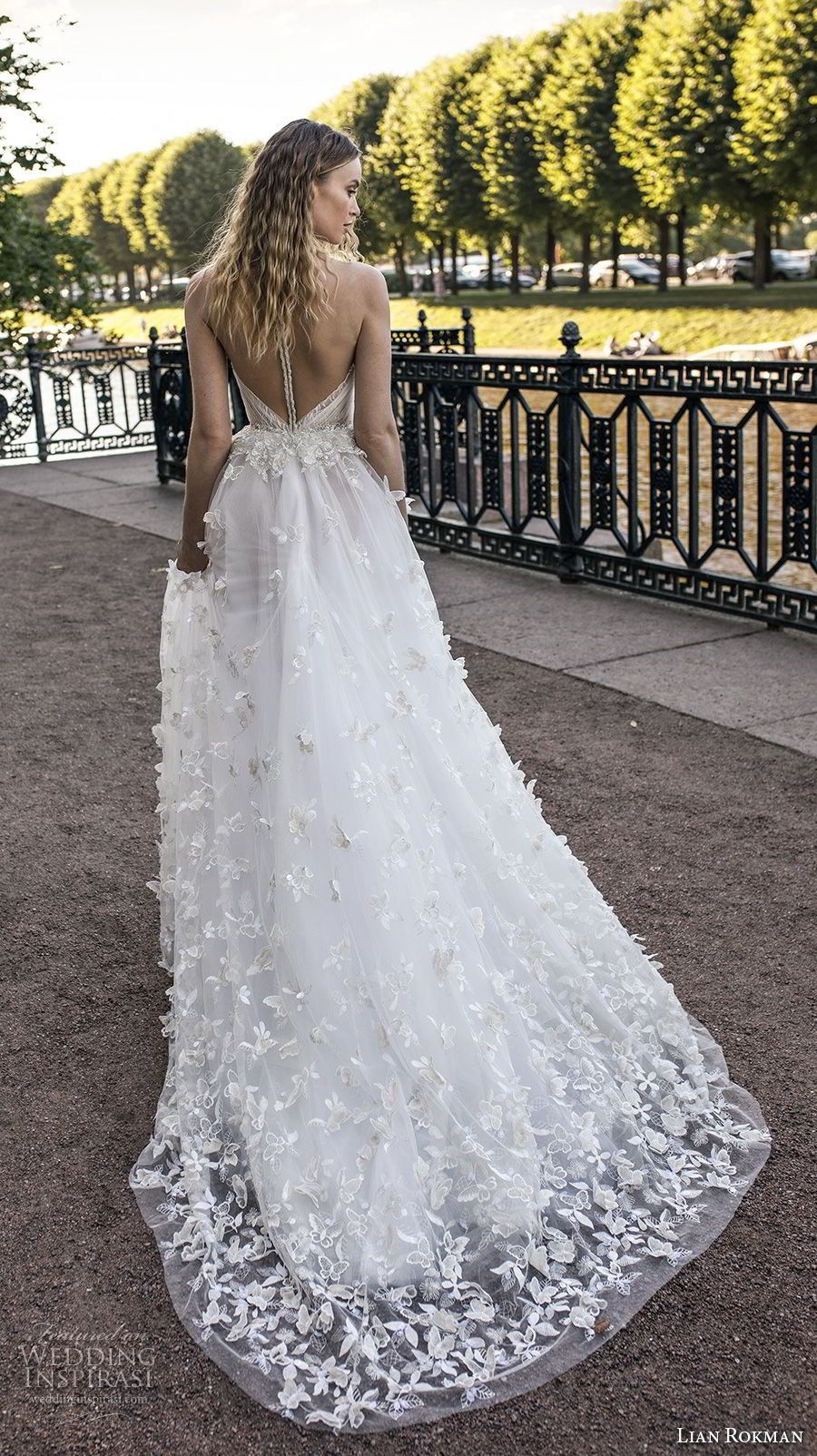 Wedding dress high neck open back  Lian Rokman  Wedding Dresses u ucStardustud Bridal Collection
