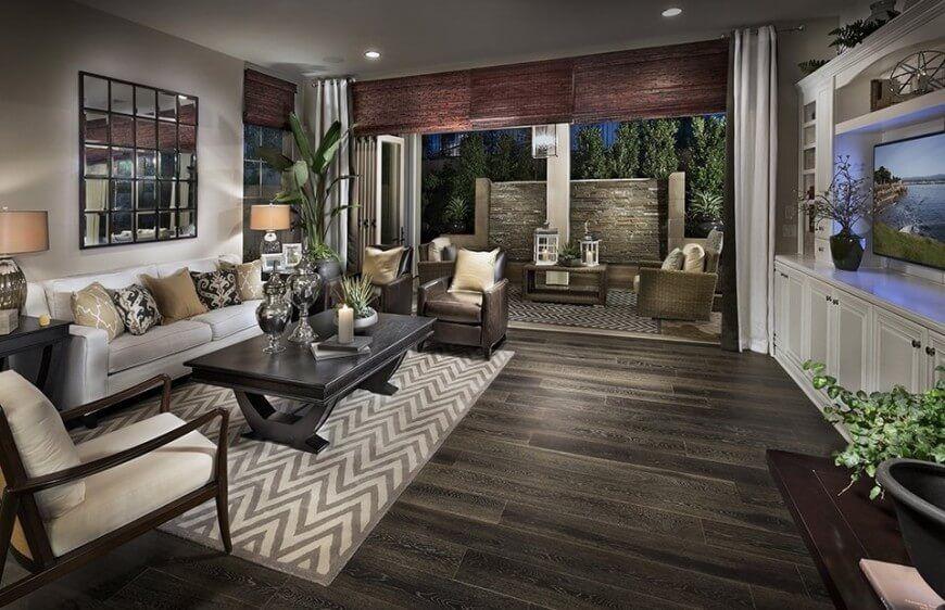 12 Types of Living Room Flooring (2020 Ideas) | Wooden floors ...