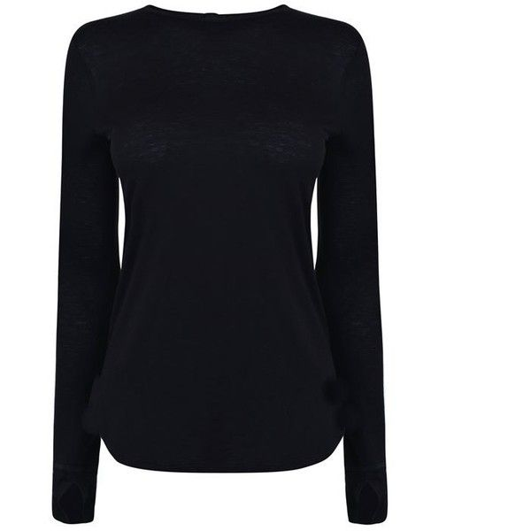 Helmut Lang Long Sleeve T Shirt 1 350 Ars Liked On Polyvore Featuring Tops T Shirts Shirts Sweaters Black Long Sleeve Tee Outfits