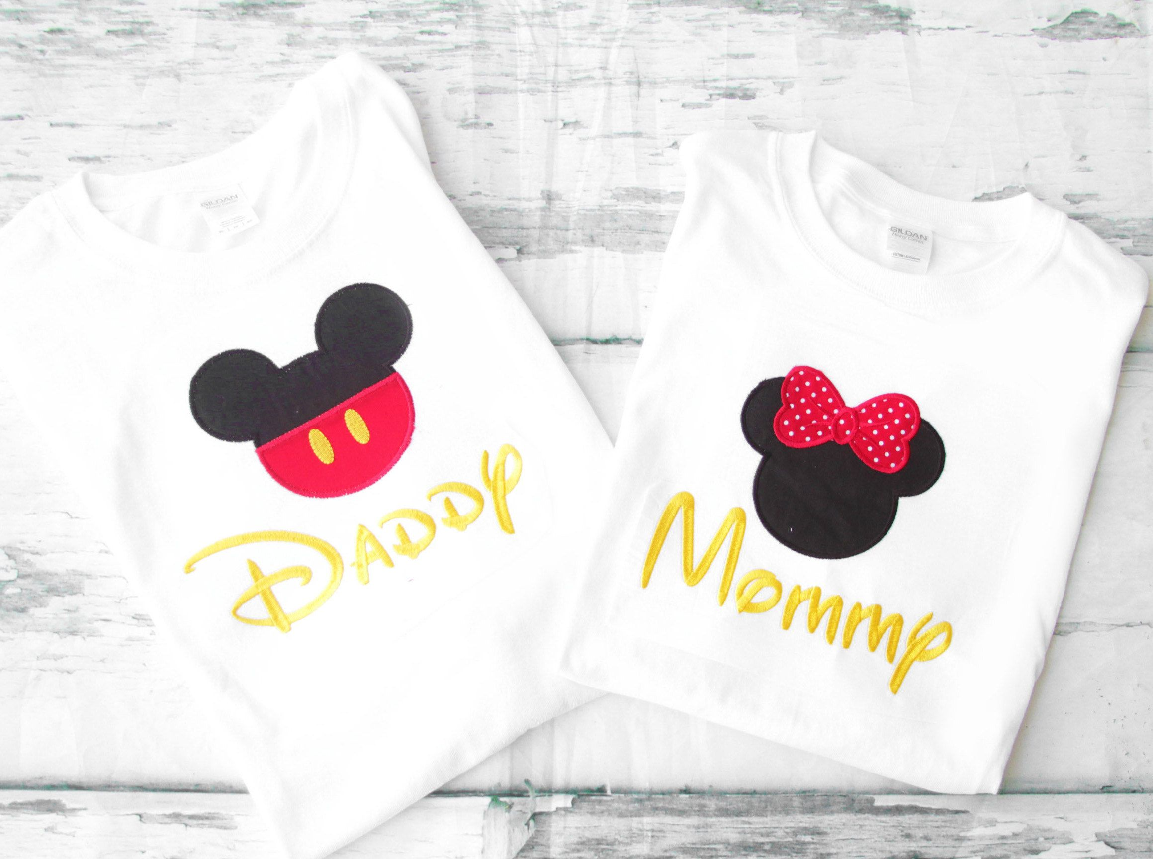 Mickey Minnie Mom and Dad matching shirts Parents shirts Mommy and