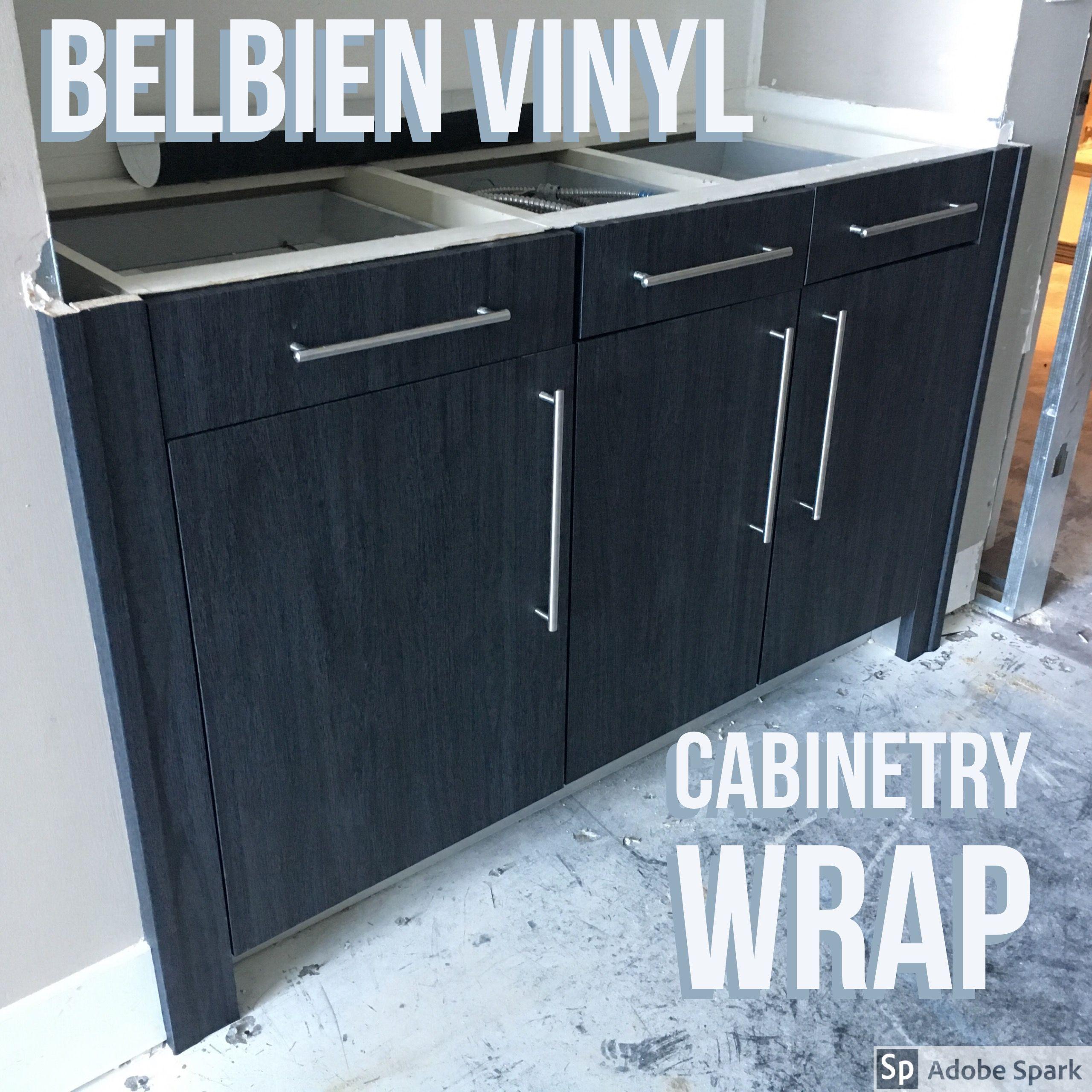Bathroom cabinetry wrap We used Belbien vinyl Randy