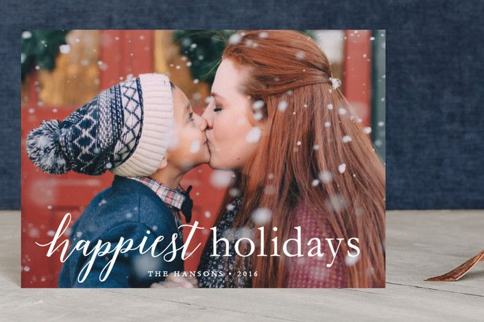 """""""comfort & joy"""" - Full-Bleed Photo, Classical Holiday Petite Cards in snowflake by Susan Asbill."""