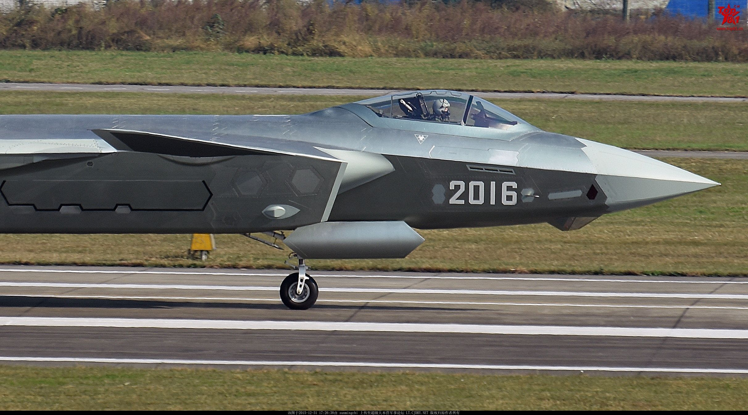 Close-up of Chengdu J-20 Prototype 2016  The fighter entered