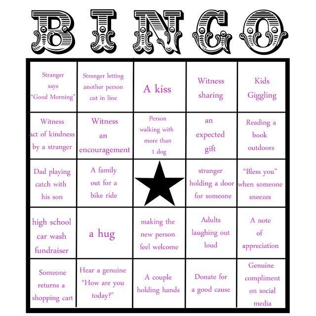Random Acts Of Kindess Kindness Bingo The Hankful House Bingo Card Template Free Bingo Cards Bingo Cards
