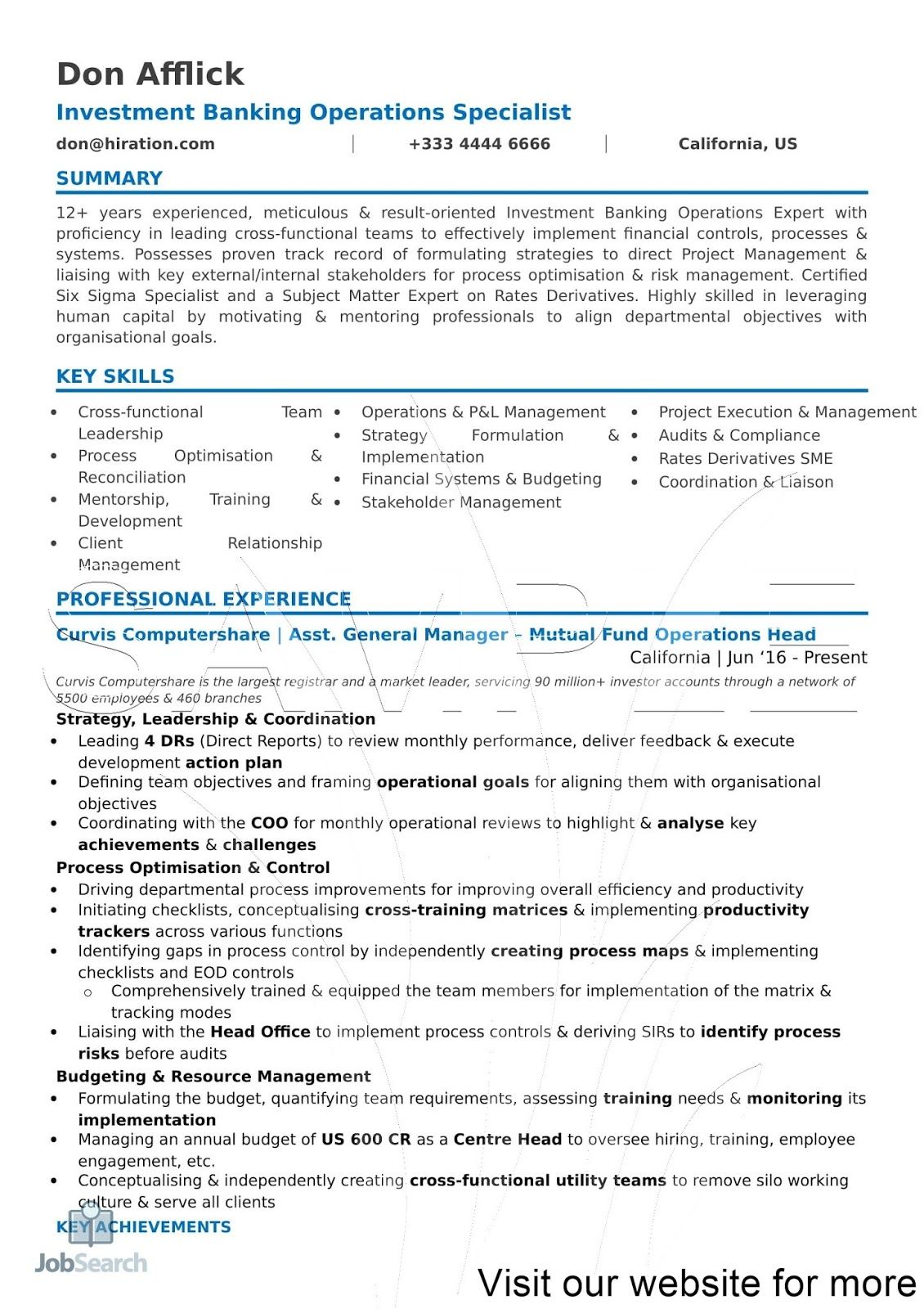 Resume Functional Summary Examples in 2020 Career change