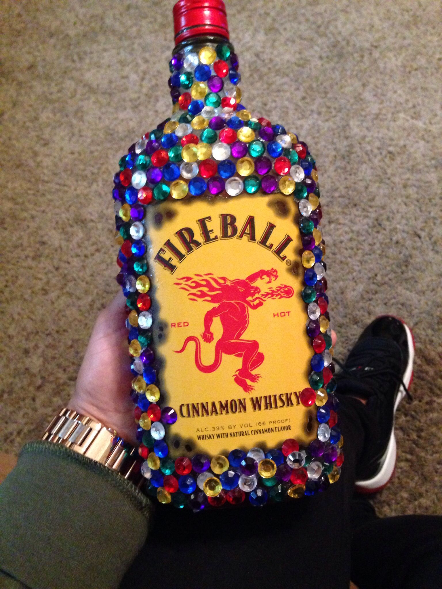 Bedazzled fireball gift gifts christmas bulbs