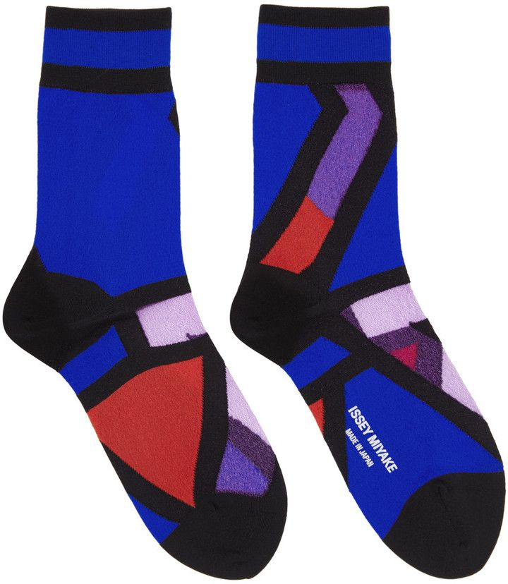 Black Pattern Socks Issey Miyake Clearance Fashionable Cheap Price Wholesale Price CEwljPac