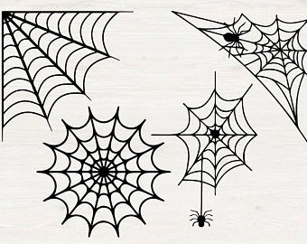 Svg Cutfiles And Clipart For Your Projects By Lemoncutfiles Clip Art Vintage Spider Web Art