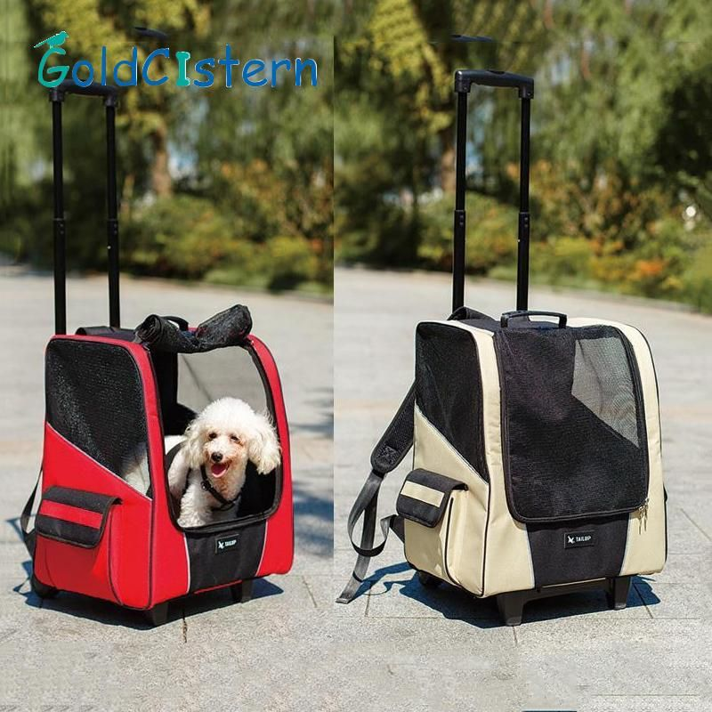 pet dog puppy draw bar case carrier breathable backpack for dog cat outside travel portable