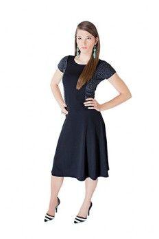 The Katy Dress  Modest dresses little black dress grey cheetah print http://junieblake.com/modest-dresses/modest-dress-katy.html