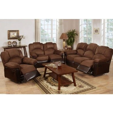 Chocolate Leather Motion Recliner Sofa And Love Seat F6682 By Poundex Mypriceforyou Affordable