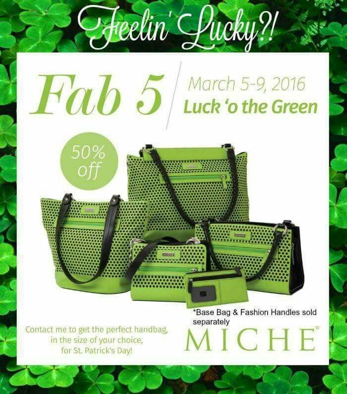 Great St Patty's Day face available for all size bases!!!  Order March 5-9 @                                                      https://sandrasgotmy.miche.com