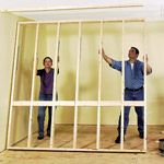 Building Interior Walls: How To Frame U0026 Build A Wall   Carpentry,  Woodworking U0026