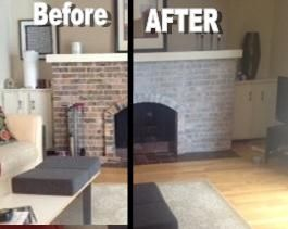 How to Whitewash a Dated Brick Fireplace | Update your contractor ...