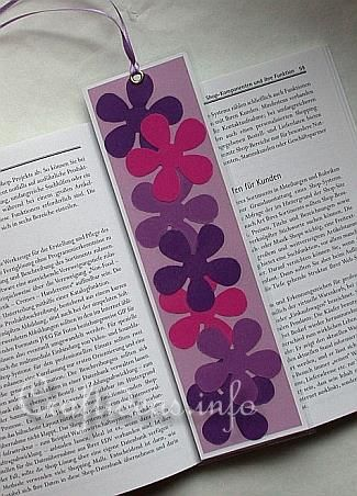 Spring Craft for Kids - Flower Power Bookmark