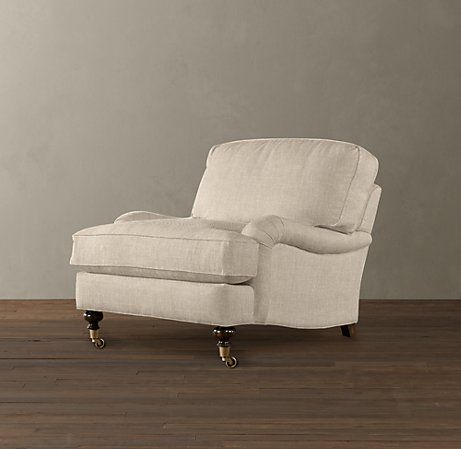 English Roll Arm Chair | Upholstered chairs, Floor ...