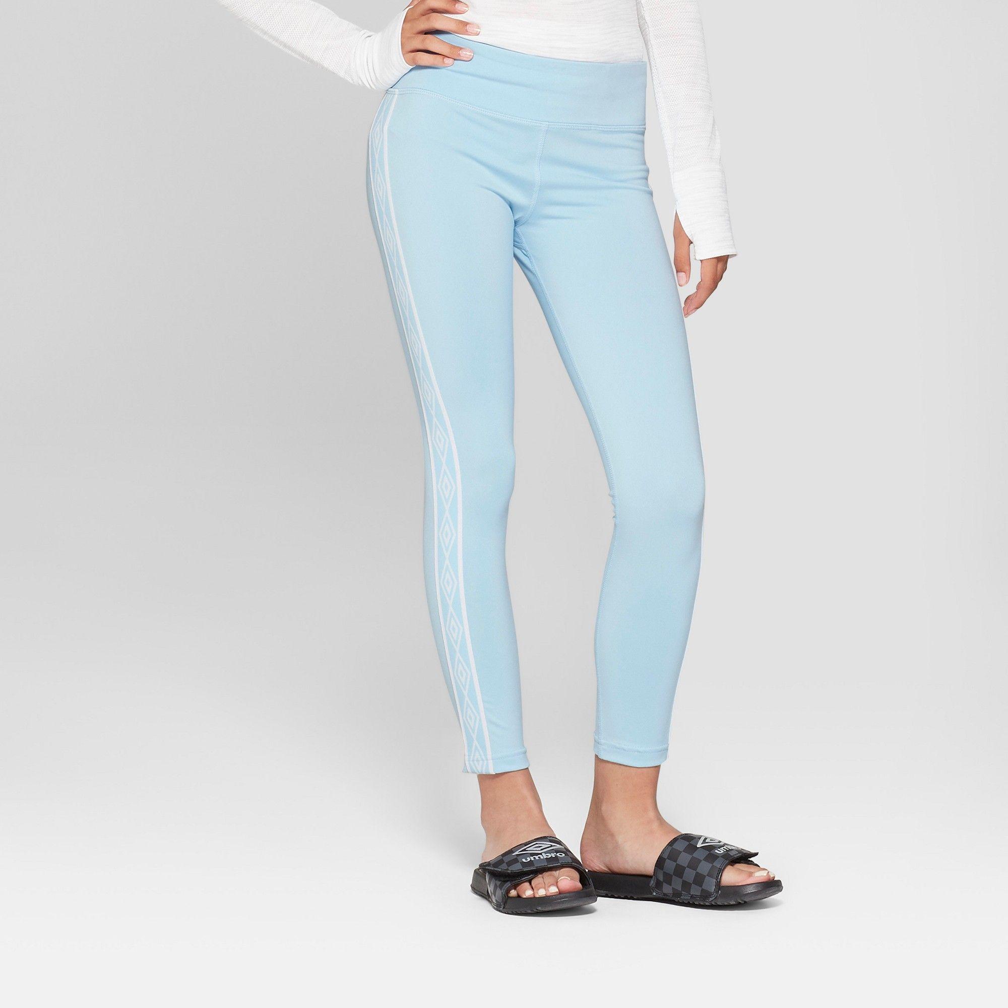 7e095278f3 Umbro Girls' Double Diamond Performance Leggings - Light Airy Blue L, Air  Blue