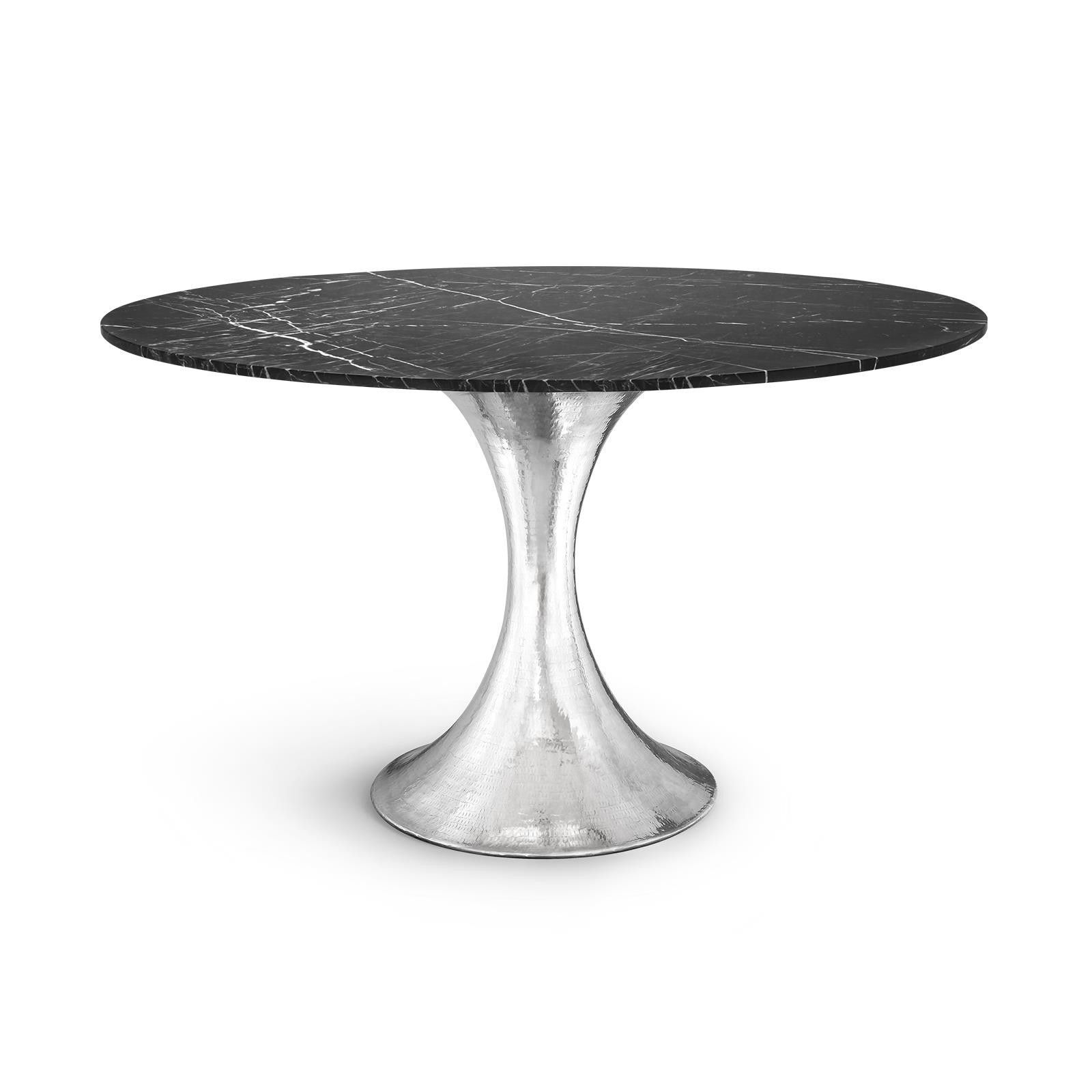 stockholm dining table nickel base products pinterest