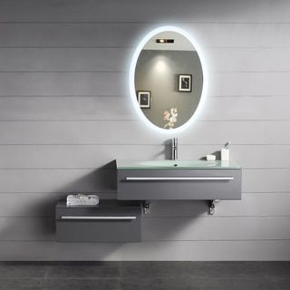 IB Backlit Oval Bathroom Mirror | Overstock.com Shopping   The Best Deals  On Mirrors