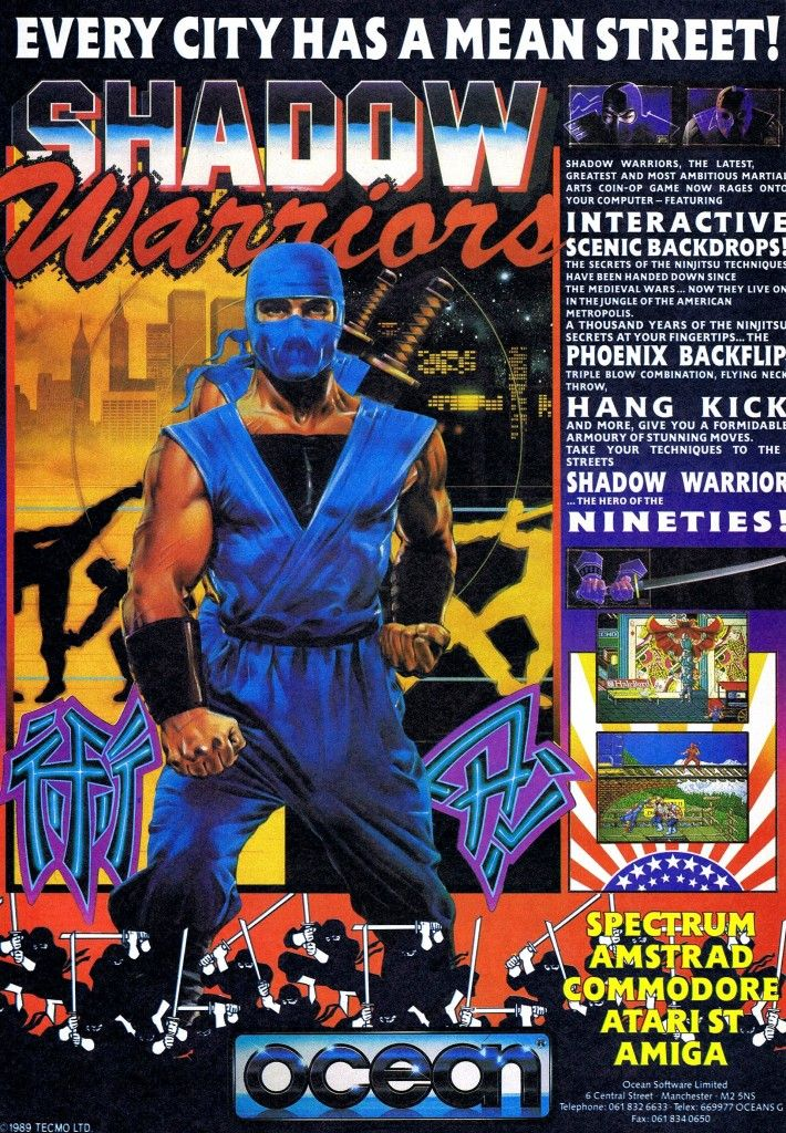 Video Game Ad Of The Day Shadow Warriors Shadow Warrior Warrior Retro Arcade