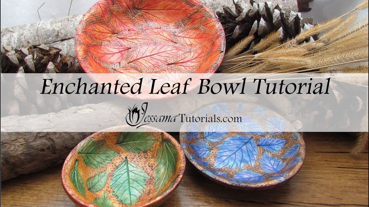 Enchanted Leaf Bowl Tutorial Polymer clay projects