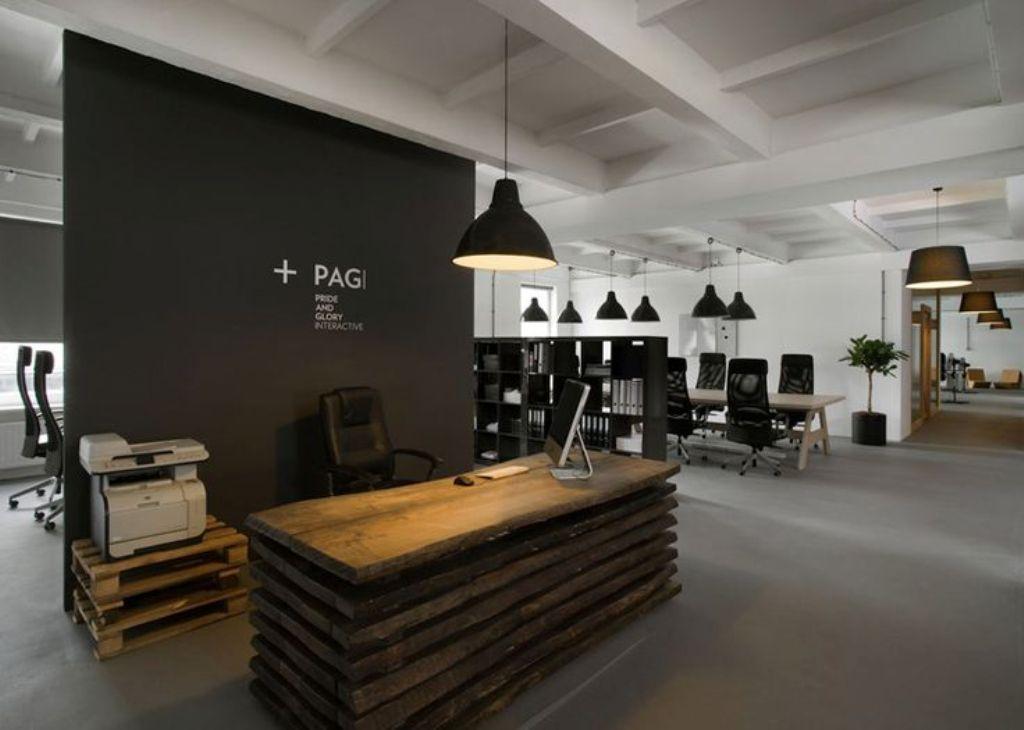 Small Reception Area Design Google Search Industrial Office Design Office Interiors Office Interior Design