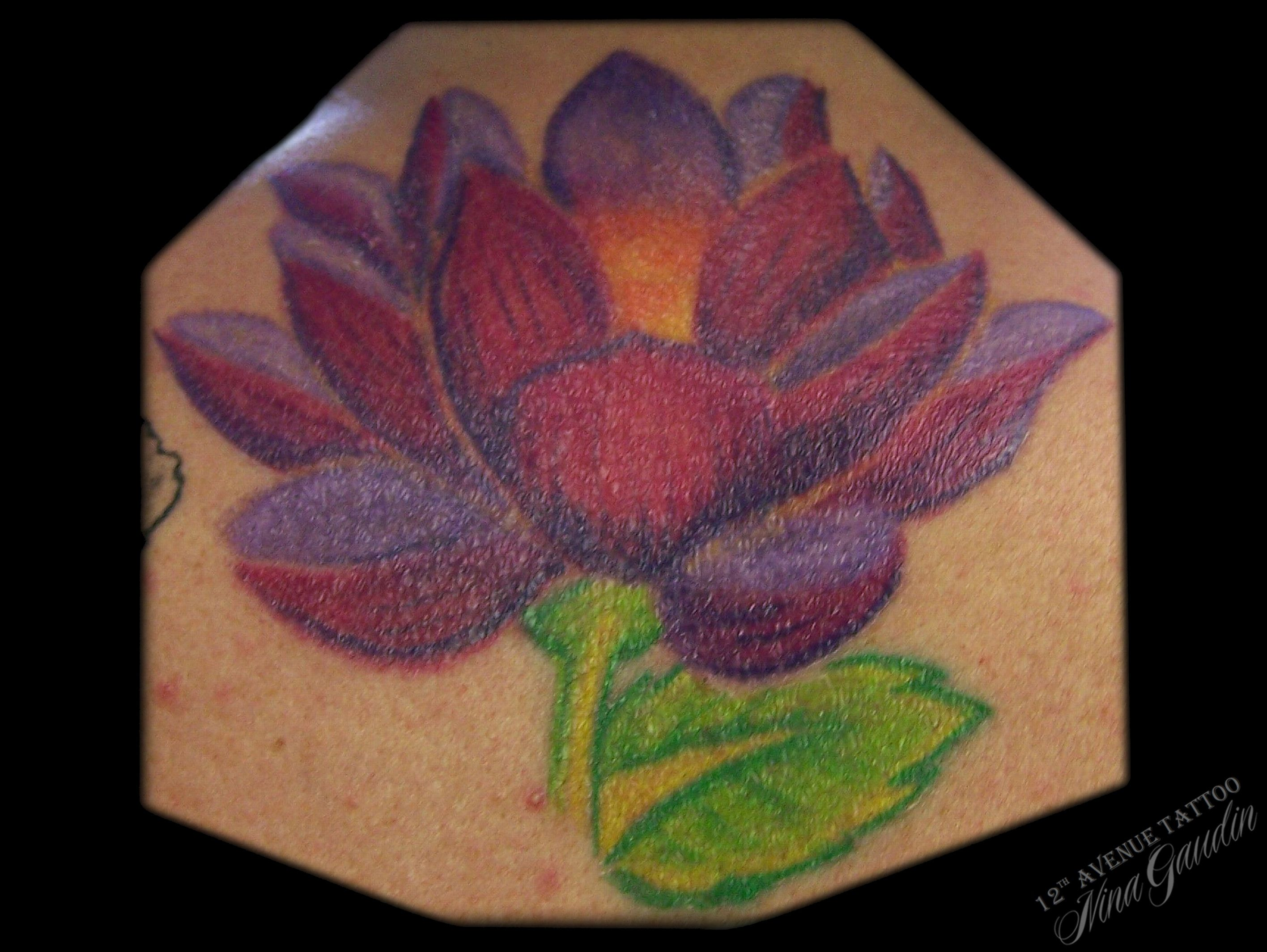Lotus flower color back tattoo by nina gaudin of 12th avenue lotus flower color back tattoo by nina gaudin of 12th avenue tattoo in nampa izmirmasajfo Images