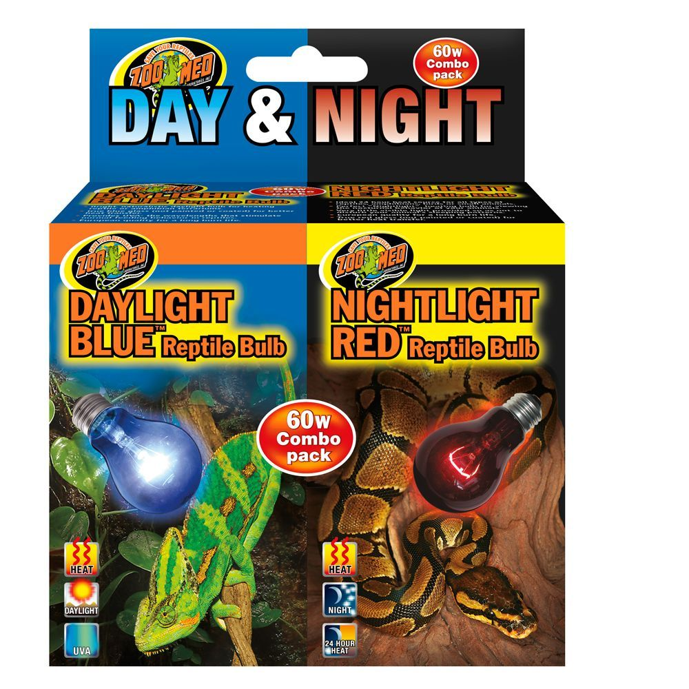Zoo Med Day Amp Night Combo Pack Reptile Bulbs Reptiles Reptile Lights Blue Night Lights