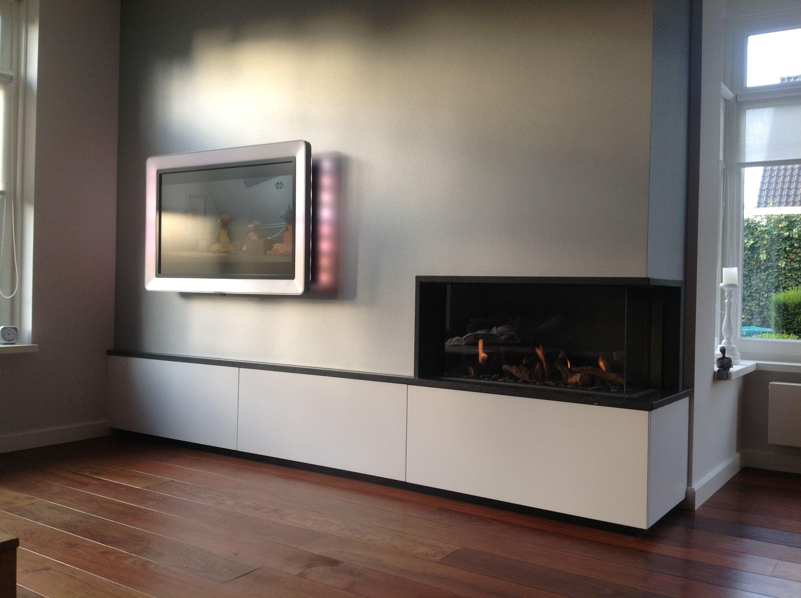 Hoek Gashaard Interieur Kast Met Lade Tv Ophanging Led Gashaard Wanden Interieur