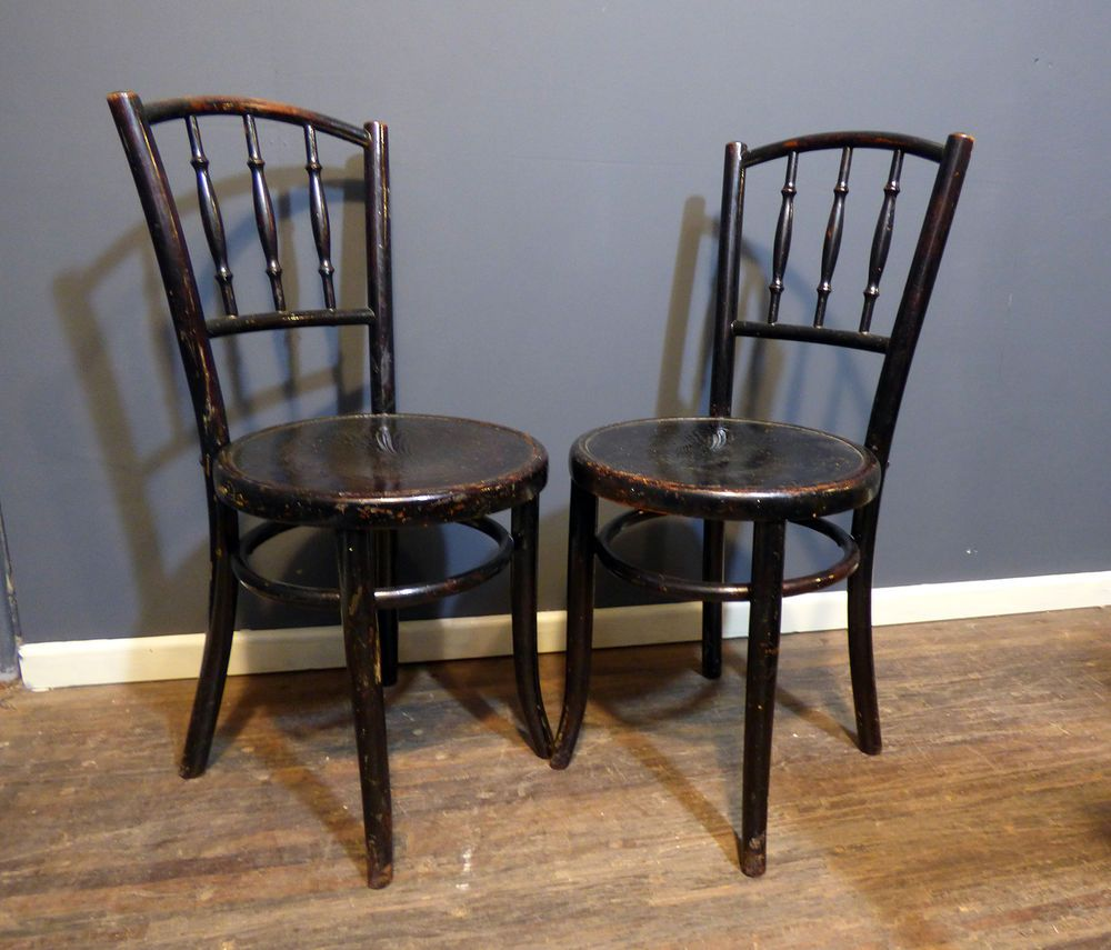 Antique Bentwood Cafe Chairs By Fischel Original 1900s Thonet  # Muebles Fischel
