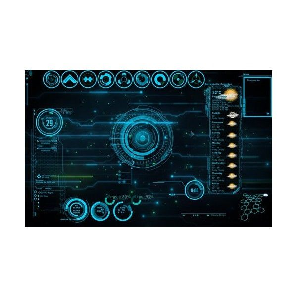 JARVIS Iron Man Blue Rainmeter Theme By Edreyes On