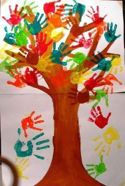 Quatang Gallery- Herfst Boom Verven Herfstwerkjes Herfst Bomen Herfst Knutselen