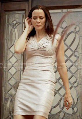 Lily's metallic dress on The Vampire Diaries
