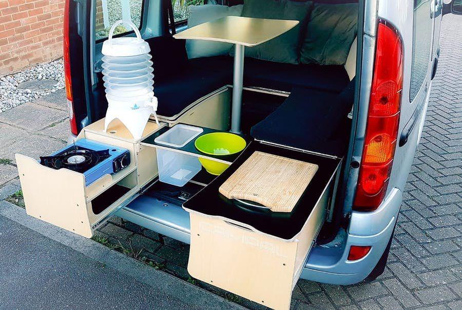 Campal All In One Camper Box Creates A Complete Mini Campervan For 1 400 Campervan Camper Van Campervan Life
