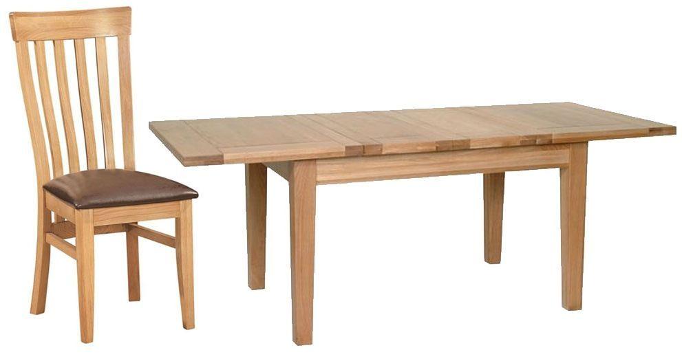 Elegant Oak Dining Table Extending