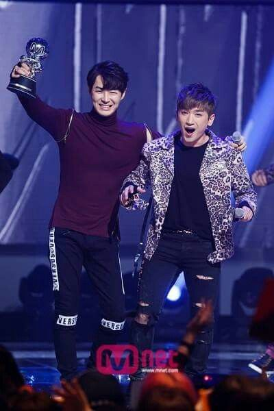 Mnet Countdown 3/26/15: 민우 & 전진