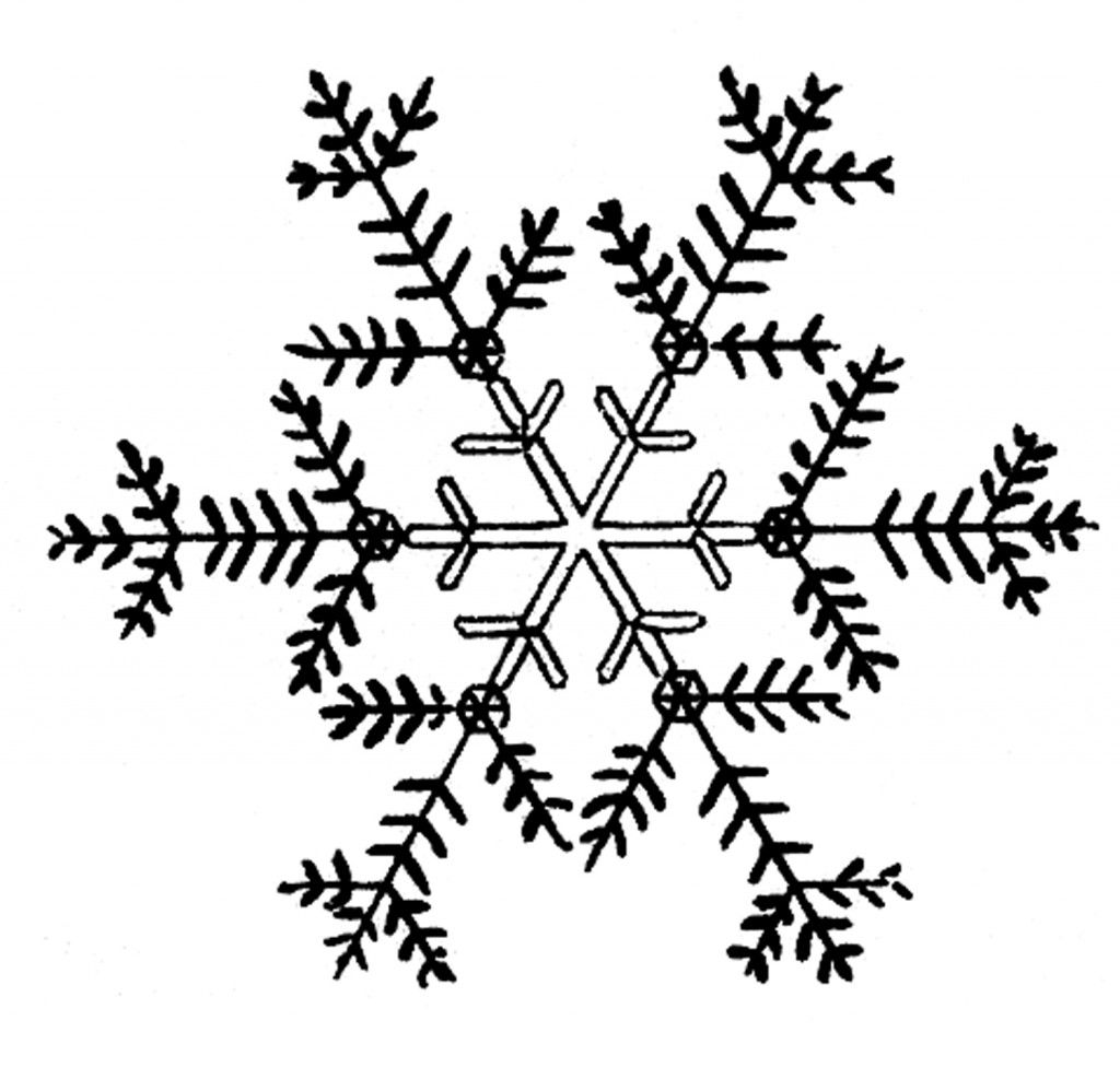 Free Snowflakes Clip Art ADULT Coloring is Art