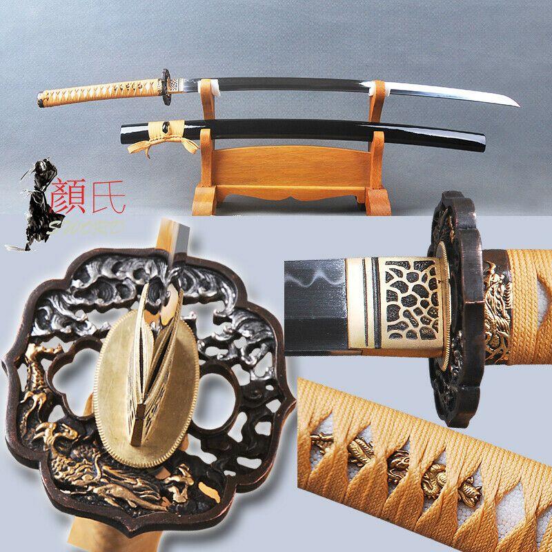 Ebay Sponsored Clay Tempered 1095 Carbon Steel Japanese Samurai Katana Sword Full Tang Sharp Samurai Swords Katana Katana Swords
