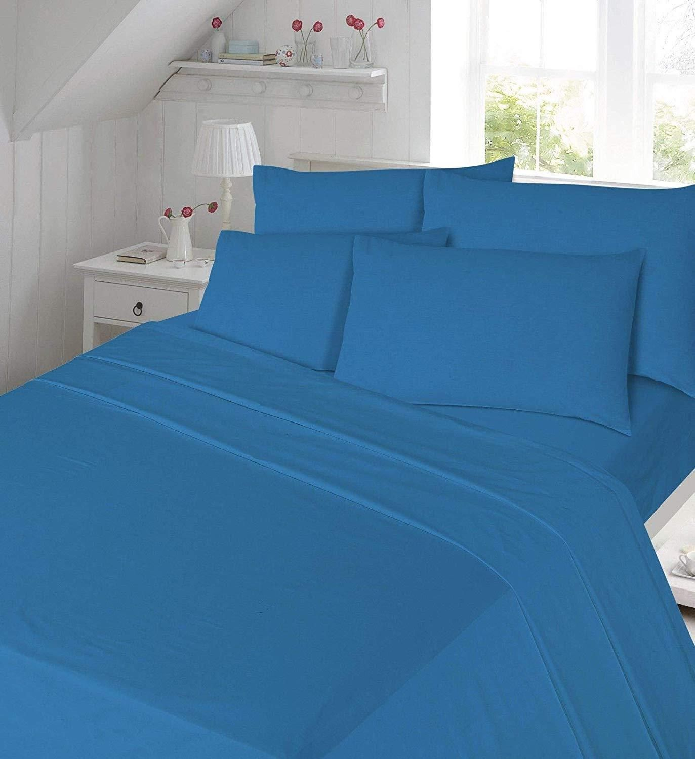 THERMAL FLANNELETTE 100/% BRUSHED COTTON FITTED BED SHEET SINGLE DOUBLE KING NEW
