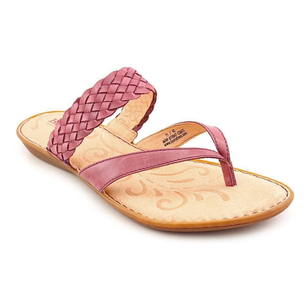 3aad7125fdc15a Born Joya Womens Size 6 Purple Leather Thongs Sandals Shoes EU 36.5 ...