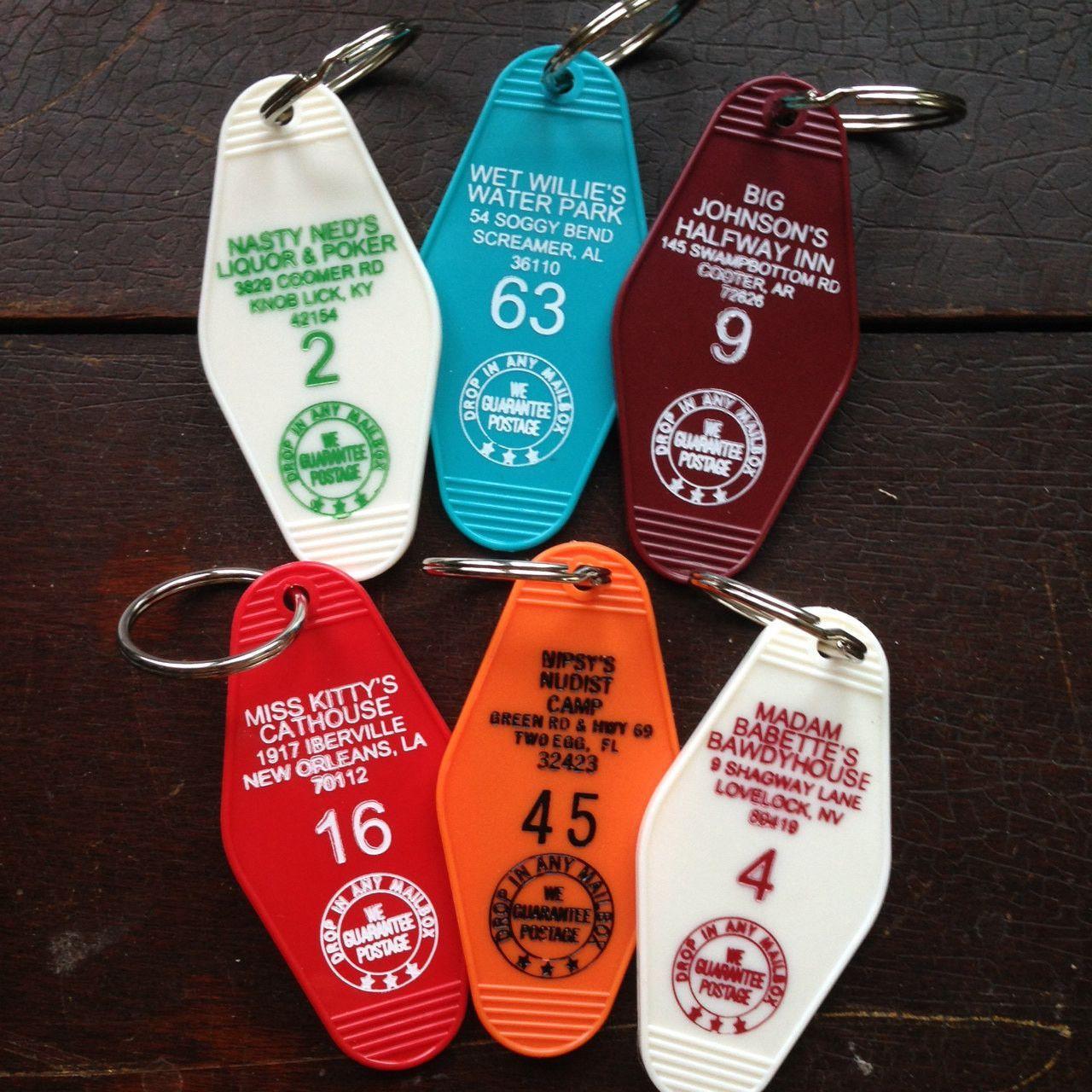 Vintage Motel Key Fobs Keychain Sassy Sayings Choose Or Create