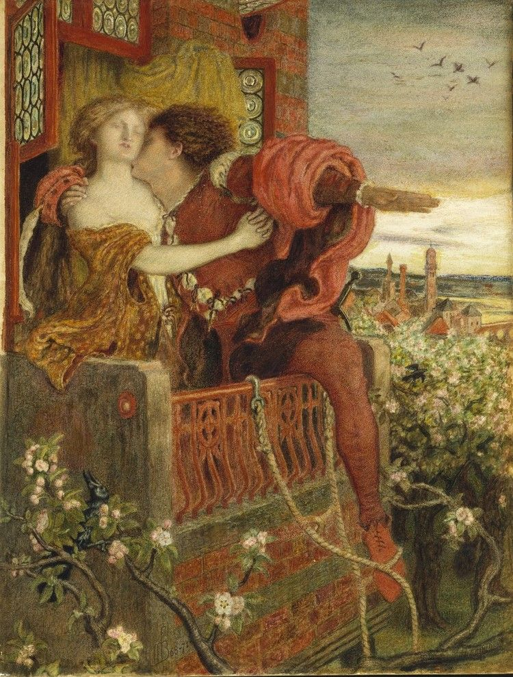 Ford Madox Brown / Romeo and Juliet.  1870