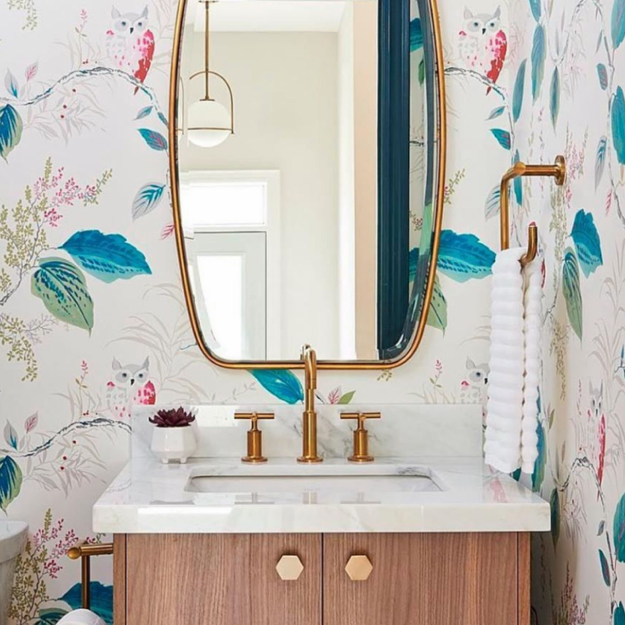 "Share From @Kohler ""#Whimsical #wallpaper Adds A #playful"