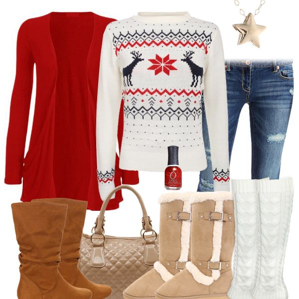 Cute Christmas Sweater Outfit | style collages | Pinterest ...