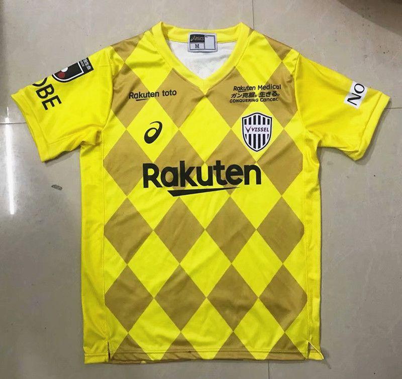 2020 21 Vissel Kobe 2nd Away Yellow Thailand Soccer Jersey Aaa In 2020 Vissel Kobe Soccer Jersey Soccer