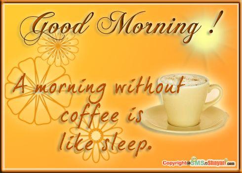 Nice Coffee · Good Morning!