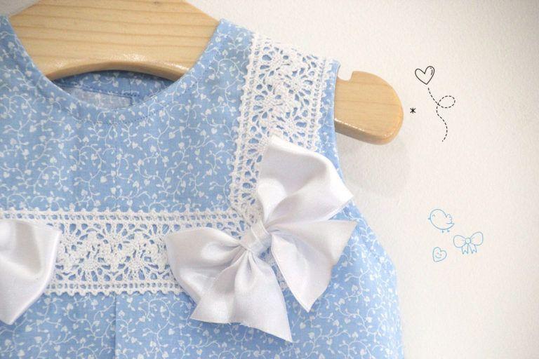 2725bc9ba DIY Costura  Como hacer vestido para niñas con lazos (patrones gratis)