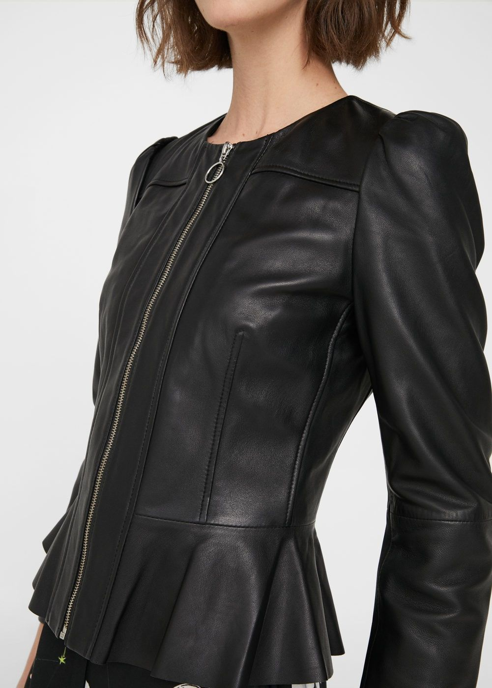 Best hairstyle for me leather jacket cropped leather