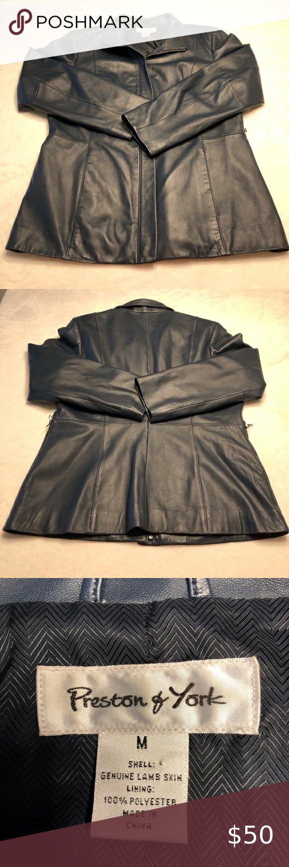 Preston and York 100% Lambskin Leather Jacket